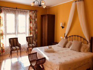alojamiento ecologico habitación doble superior con vistas